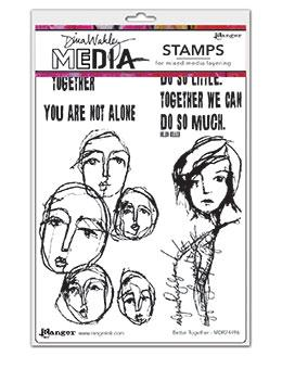 Dina Wakley Media Stamp Better Together Stamps Dina Wakley Media