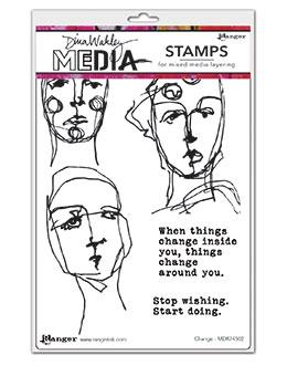 Dina Wakley Media Stamp Change Stamps Dina Wakley Media