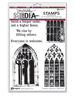 Dina Wakley Media Stamp Everyone is Welcome Stamps Dina Wakley Media