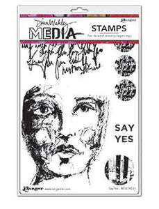 Dina Wakley Media Stamp Say Yes Stamps Dina Wakley Media