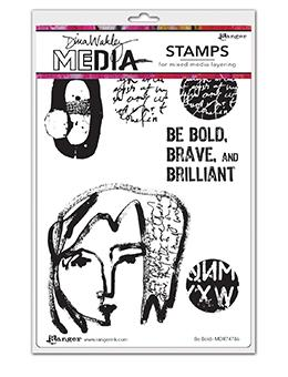 Dina Wakley Media Stamp Be Bold Stamps Dina Wakley Media