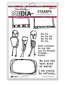 Dina Wakley Media Stamp No Refunds Stamps Dina Wakley Media