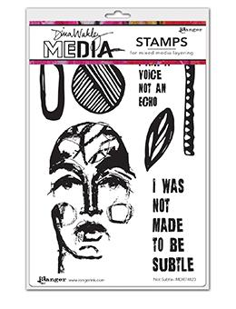 Dina Wakley Media Stamp Not Subtle Stamps Dina Wakley Media