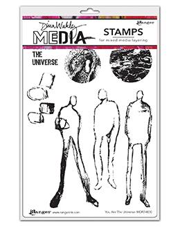 Dina Wakley Media Stamp You Are the Universe Stamps Dina Wakley Media
