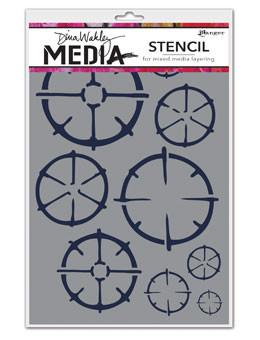 Dina Wakley Media Stencils Wheels Stencil Dina Wakley Media