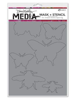 Dina Wakley Media Mask + Stencil Insects Stencil Dina Wakley Media