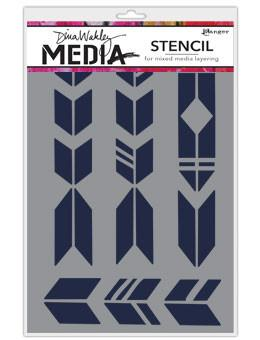 Dina Wakley Media Stencils Grande Arrows Stencil Dina Wakley Media