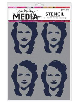 Dina Wakley Media Stencils Four Women