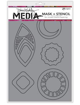 Dina Wakley Media Mask + Stencil  Funky Masks