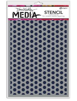 Dina Wakley Media Stencils Spaced Dots Stencil Dina Wakley Media