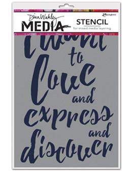 Dina Wakley Media Stencils I Want Stencil Dina Wakley Media