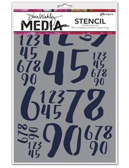 Dina Wakley Media Stencils Jumbled Numbers Stencil Dina Wakley Media