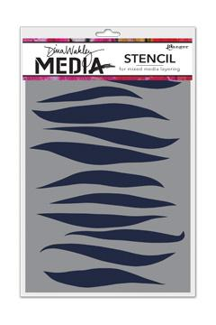 NEW! Dina Wakley Media Stencils Gusts