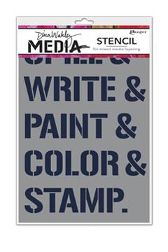 Dina Wakley Media Stencil What We Do Stencil Dina Wakley Media