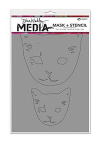 Dina Wakley Media Stencils Cat Head Masks