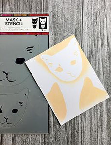 Dina Wakley Media Stencils Cat Head Masks Stencil Dina Wakley Media