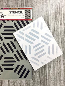 Dina Wakley Media Stencils Fractured Hexagons Stencil Dina Wakley Media