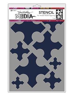 Dina Wakley Media Stencils Large Medieval Crosses Stencil Dina Wakley Media