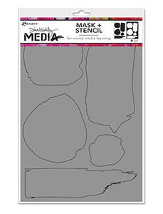 Dina Wakley Media Stencils Uneven Shapes Stencil Dina Wakley Media
