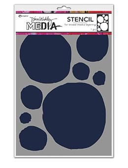 Dina Wakley Media Stencils Circle for Painting Stencil Dina Wakley Media