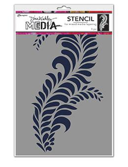 Dina Wakley Media Stencils Giant Flourish Stencil Dina Wakley Media