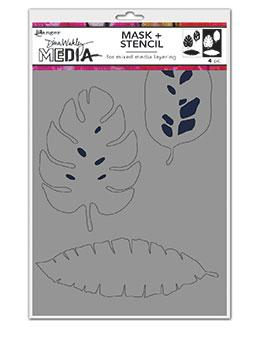 Dina Wakley Media Tropical Masks Stencil Dina Wakley Media
