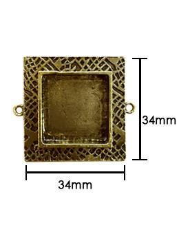 ICE Resin® Milan Bezels: Antique Bronze Medium Square, 1pc. Bezels & Charms ICE Resin®