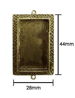 ICE Resin® Milan Bezels: Antique Bronze Medium Rectangle, 1pc. Bezels & Charms ICE Resin®