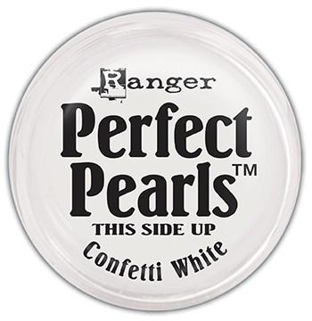Perfect Pearls™ Pigment Powder Confetti White, .25oz. Pigment Powders Ranger Brand