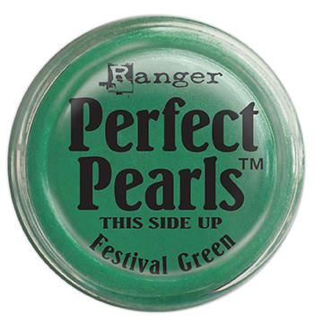 Perfect Pearls™ Pigment Powder Festival Green, .25oz. Pigment Powders Ranger Brand