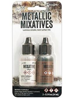 Tim Holtz Alcohol Ink Metallic Mix Pearl & Copper Alcohol Ink Tim Holtz