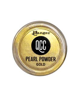 QuickCure Clay Pearl Powders Gold, 0.25oz Powders Ranger Ink