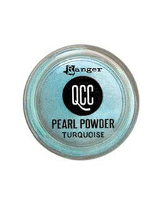QuickCure Clay Pearl Powders Turquoise, 0.25oz Powders Ranger Ink