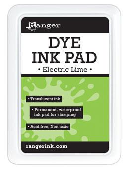 Ranger Dye Ink Pad Electric Lime Dye Ink Pad Ranger Brand