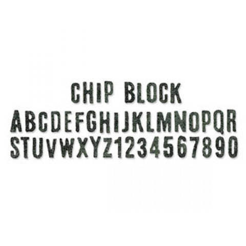 Tim Holtz® Alterations by Sizzix Sizzlits® Decorative Strip Dies - Chip Block Cutting Dies Tim Holtz Other