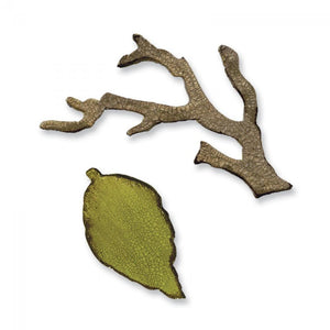 Tim Holtz® Alterations by Sizzix Movers & Shapers™ Magnetic Dies - Mini Branch & Leaf Set Cutting Dies Tim Holtz Other