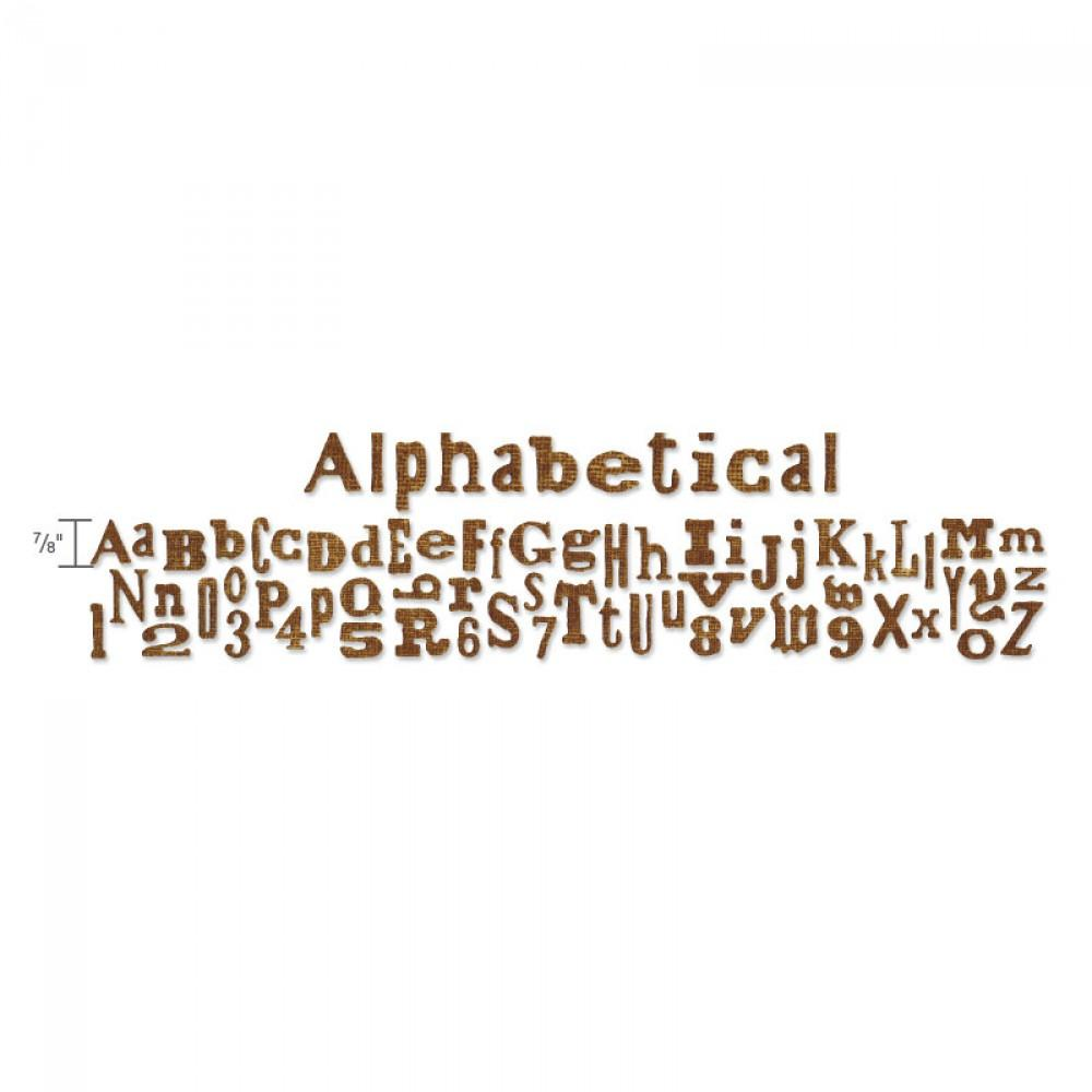 Tim Holtz® Alterations by Sizzix Sizzlits® Decorative Strip Dies - Alphabet Die - Alphabetical