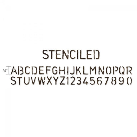 Tim Holtz® Alterations by Sizzix Sizzlits® Decorative Strip Dies - Alphabet Die - Stenciled Cutting Dies Tim Holtz Other