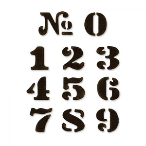 Tim Holtz® Alterations by Sizzix Movers & Shapers™ Magnetic Dies - Cargo Stencil Numbers, 11pk Cutting Dies Tim Holtz Other