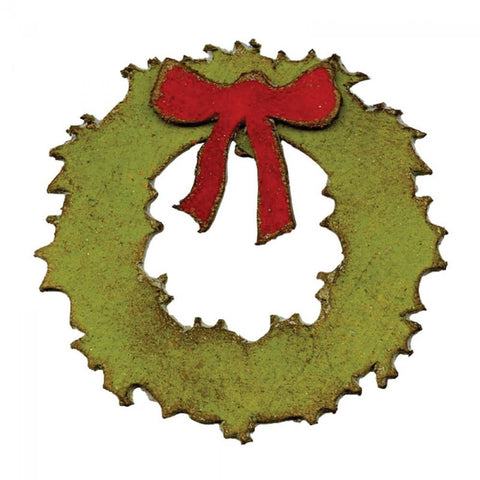 Tim Holtz® Alterations by Sizzix Movers & Shapers™ Magnetic Dies - Mini Wreath & Bow Cutting Dies Tim Holtz Other