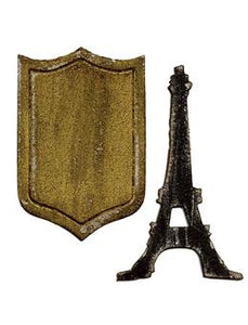 Tim Holtz® Alterations by Sizzix Movers & Shapers™ Magnetic Dies - Mini Eiffel Tower & Shield