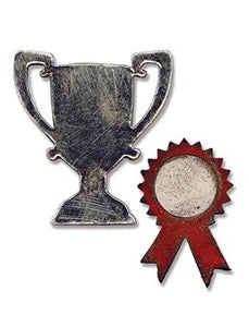 Tim Holtz® Alterations by Sizzix Movers & Shapers™ Magnetic Dies - Mini Trophy & Prize Ribbon