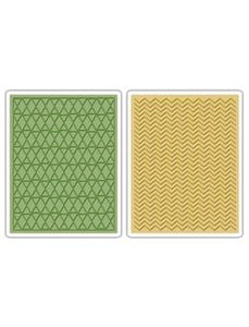 Tim Holtz® Sizzix Texture Fades™ - Chevron & Lattice, 2pc