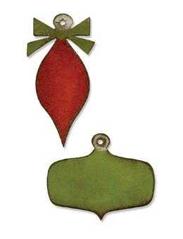 Tim Holtz® Alterations by Sizzix Movers & Shapers™ Magnetic Dies - Mini Retro Ornaments Cutting Dies Tim Holtz Other