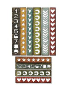 Tim Holtz® Alterations by Sizzix Thinlits™ Dies - Shape Strips, 10pk Cutting Dies Tim Holtz Other