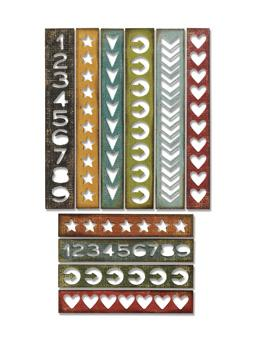 Tim Holtz® Alterations by Sizzix Thinlits™ Dies - Shape Strips, 10pk