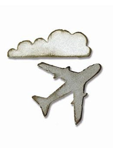 Tim Holtz® Alterations by Sizzix Movers & Shapers™ Magnetic Dies - Mini Airplane & Cloud Cutting Dies Tim Holtz Other