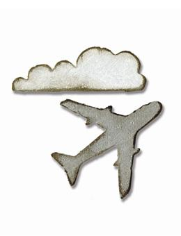 Tim Holtz® Alterations by Sizzix Movers & Shapers™ Magnetic Dies - Mini Airplane & Cloud