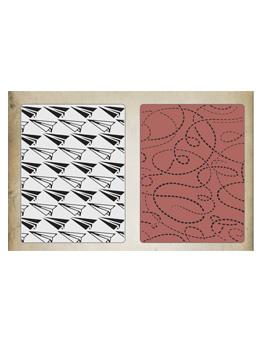 Tim Holtz® Sizzix Texture Fades™ - Paper Airplanes & Dotted Lines Set, 2pc