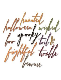Tim Holtz® Alterations by Sizzix Thinlits™ Dies - Handwritten - Halloween, 10pk